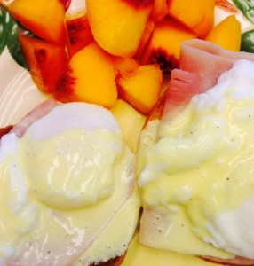 Hollandaise over Eggs for brunch.